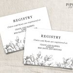 Wedding Registry Card Template Free   Demir.iso Consulting.co   Free Printable Registry Cards