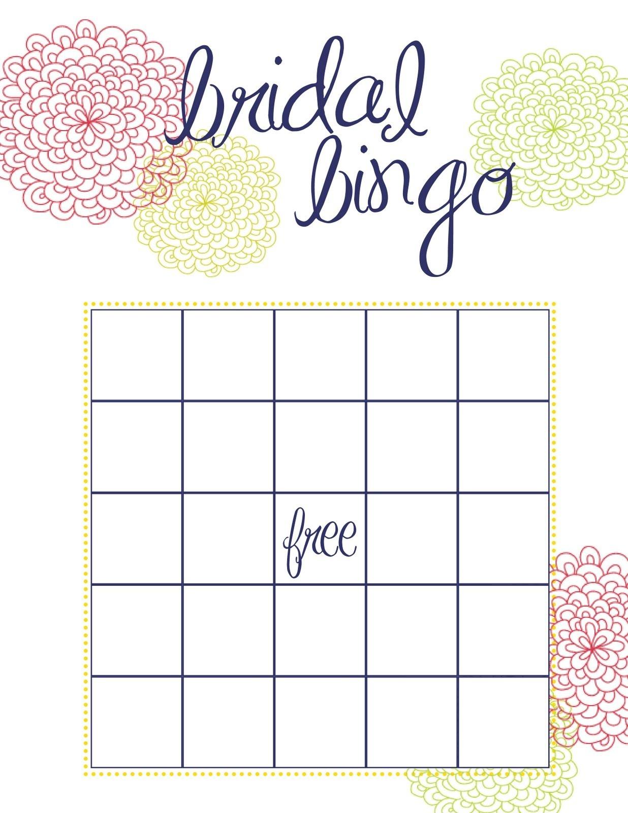 Wedding Shower Bingo Template – 28 Images – 6 Best Images Of Bingo - Free Printable Bridal Shower Bingo