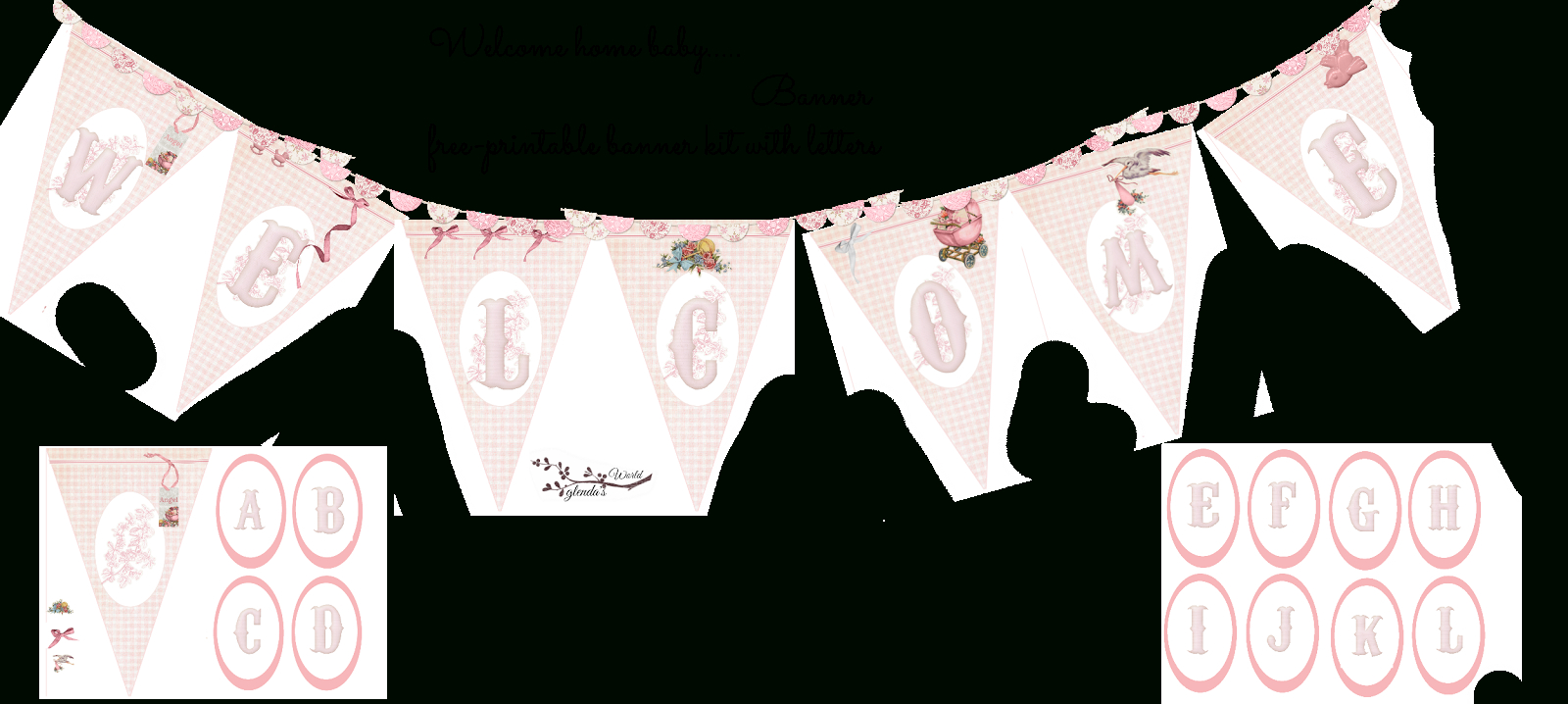 Welcome Home Baby-Girl Banner | Do It Yourself Today | Welcome Home - Baby Girl Banner Free Printable