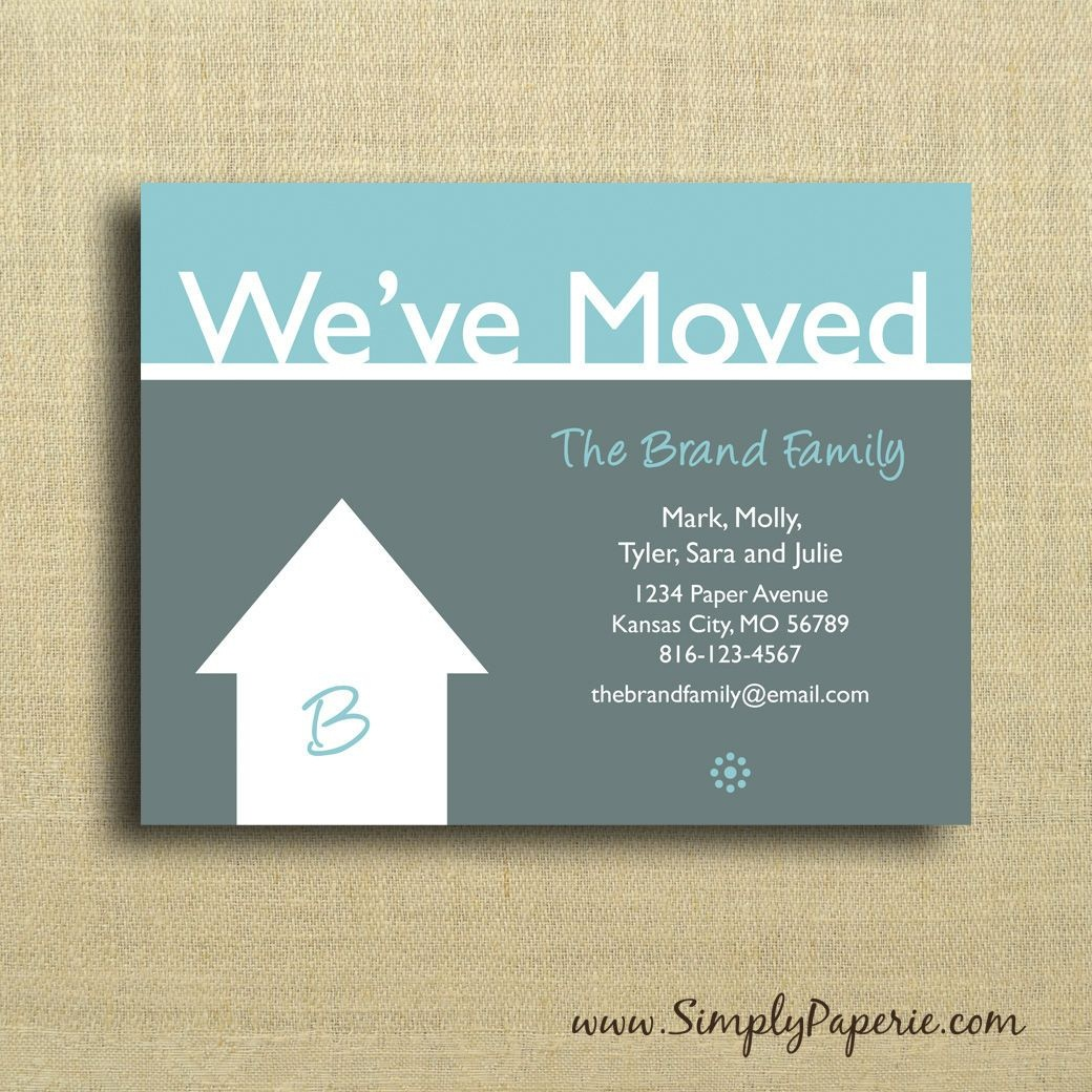We're Moving Cards Free Printable - Google Search   We've Moved - We Are Moving Cards Free Printable