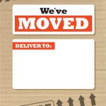 We've Moved Box   Free Printable Moving Announcement Template   Free Printable Moving Announcement Templates