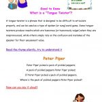 What Is A Tongue Twister? Worksheet   Free Esl Printable Worksheets   Free Printable Tongue Twisters