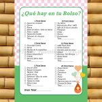 What's In Your Purse, Spanish Baby Shower Game, Spanish Game   Free Printable Baby Shower Games In Spanish