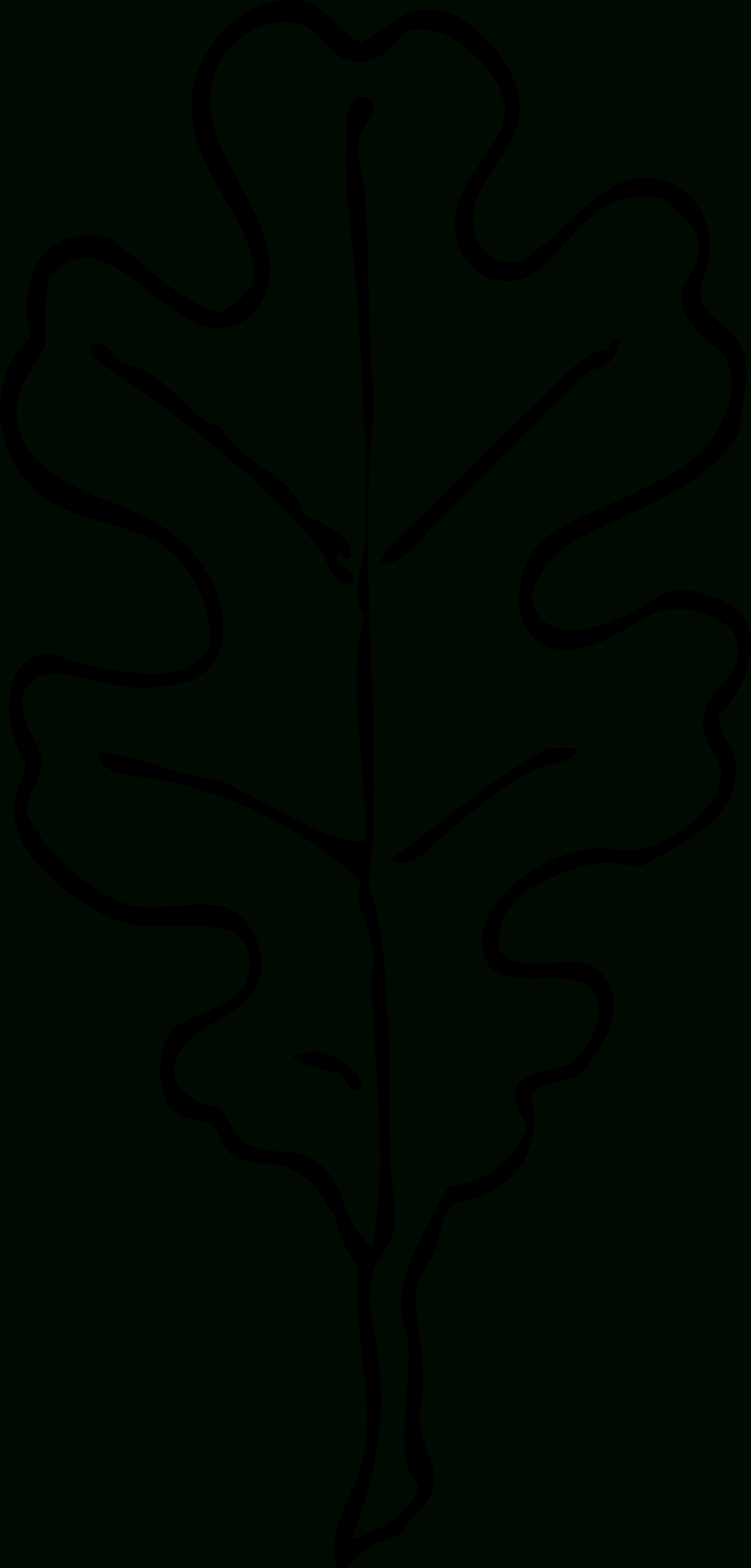 White Oak Leaf Outline Patterns Leaves And Clipart - Clipartpost - Free Printable Oak Leaf Patterns