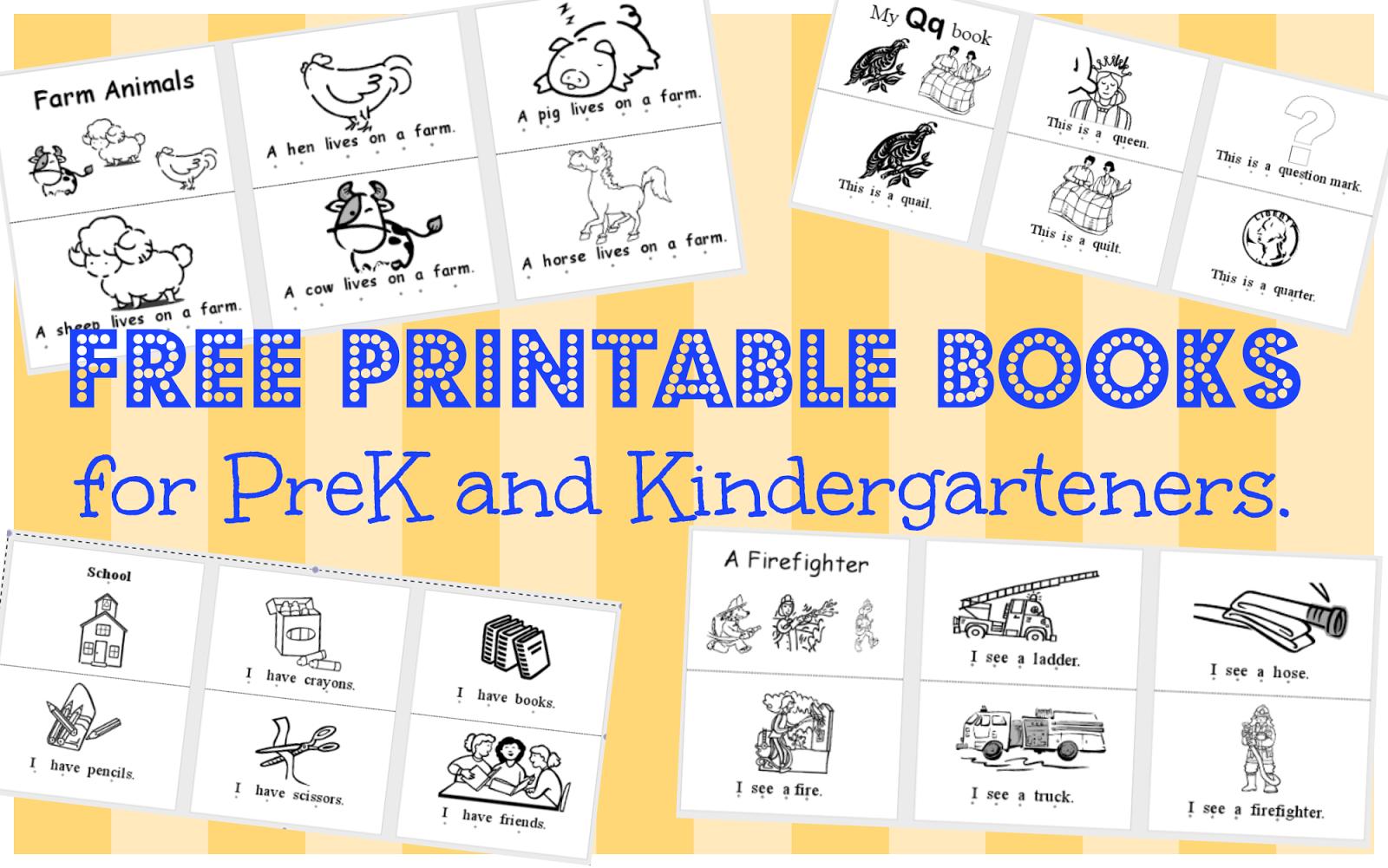 Wild Rumpus School House: *printable Books (Pk-K) - Free Printable Leveled Readers For Kindergarten