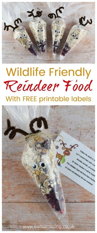 Wildlife Friendly Reindeer Food | Recipe | Holidays | Reindeer Food - Free Printable Winterization Stickers