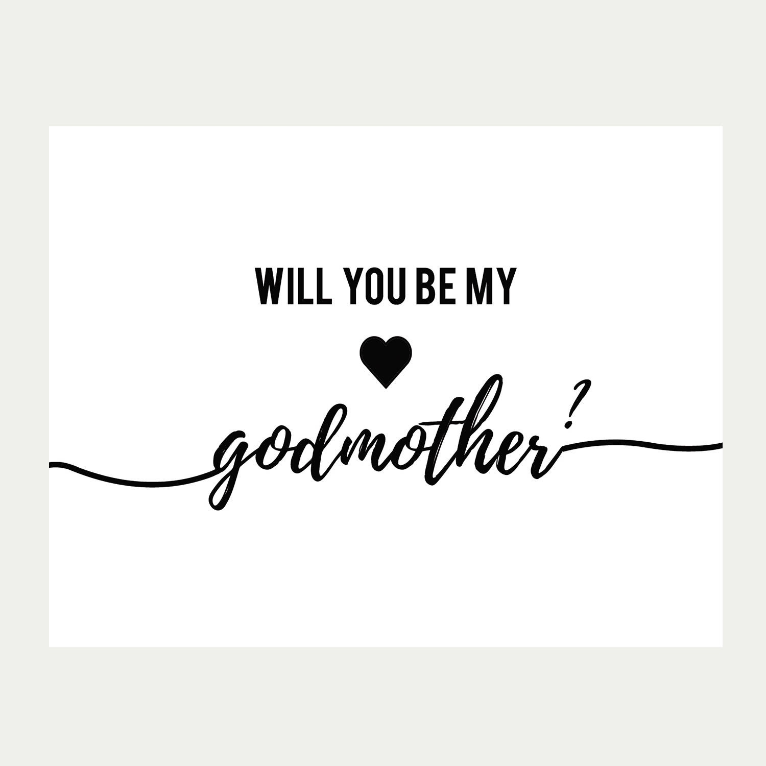 Will You Be My Godmother Card Printable Baptism Card | Etsy - Will You Be My Godmother Printable Card Free