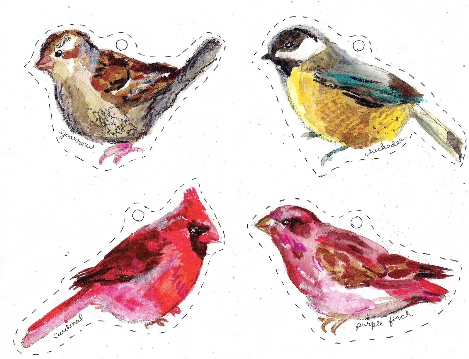 Winter Birds Free Printables - Making It Lovely - Free Printable Images Of Birds