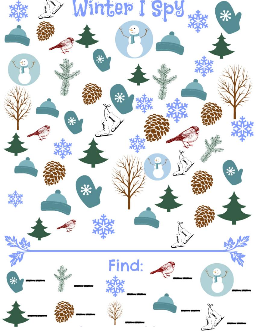 Winter I Spy Game - Free Printable Seek And Find