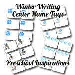 Winter Writing Center Name Tags   Preschool Inspirations   Free Printable Name Tags For Preschoolers