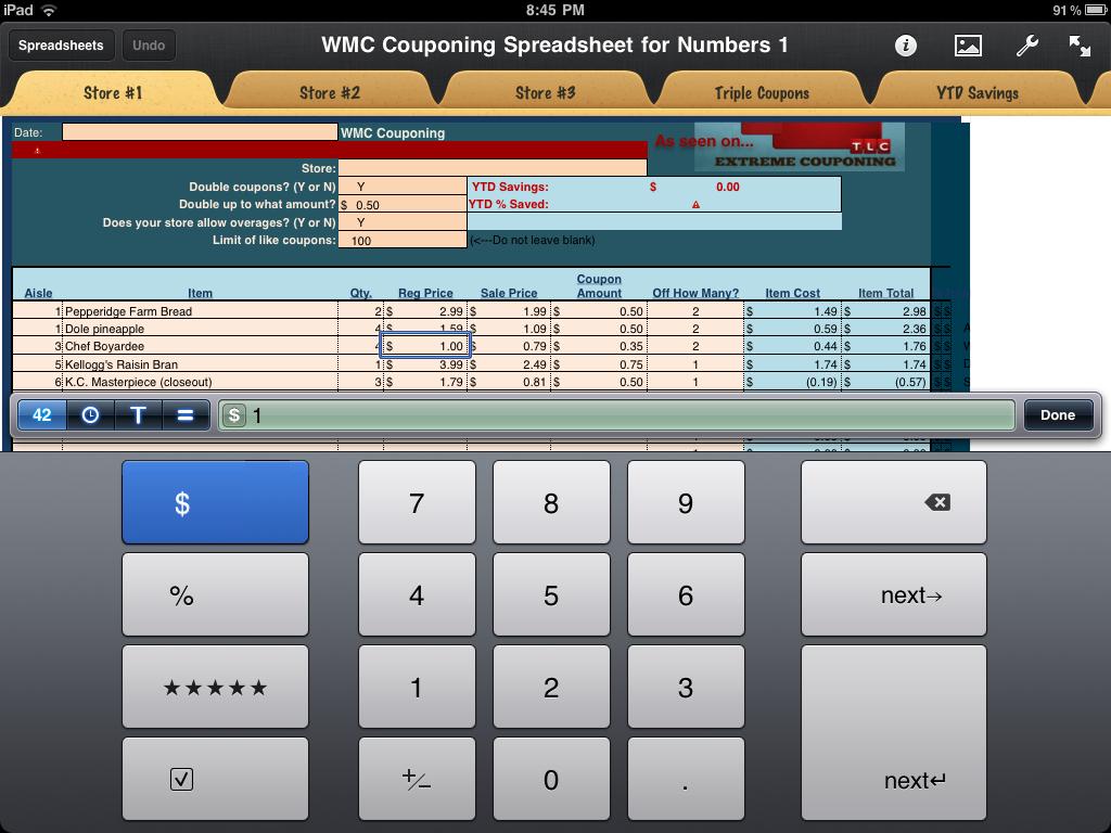 Wmc Couponing Spreadsheet Program   As Seen On Extreme Couponing - Free Printable Coupon Spreadsheet