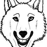 Wolf Face Coloring Page   Coloring Home   Free Printable Wolf Face Mask