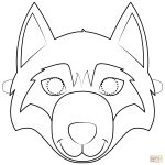 Wolf Mask Coloring Page | Free Printable Coloring Pages   Free Printable Wolf Face Mask