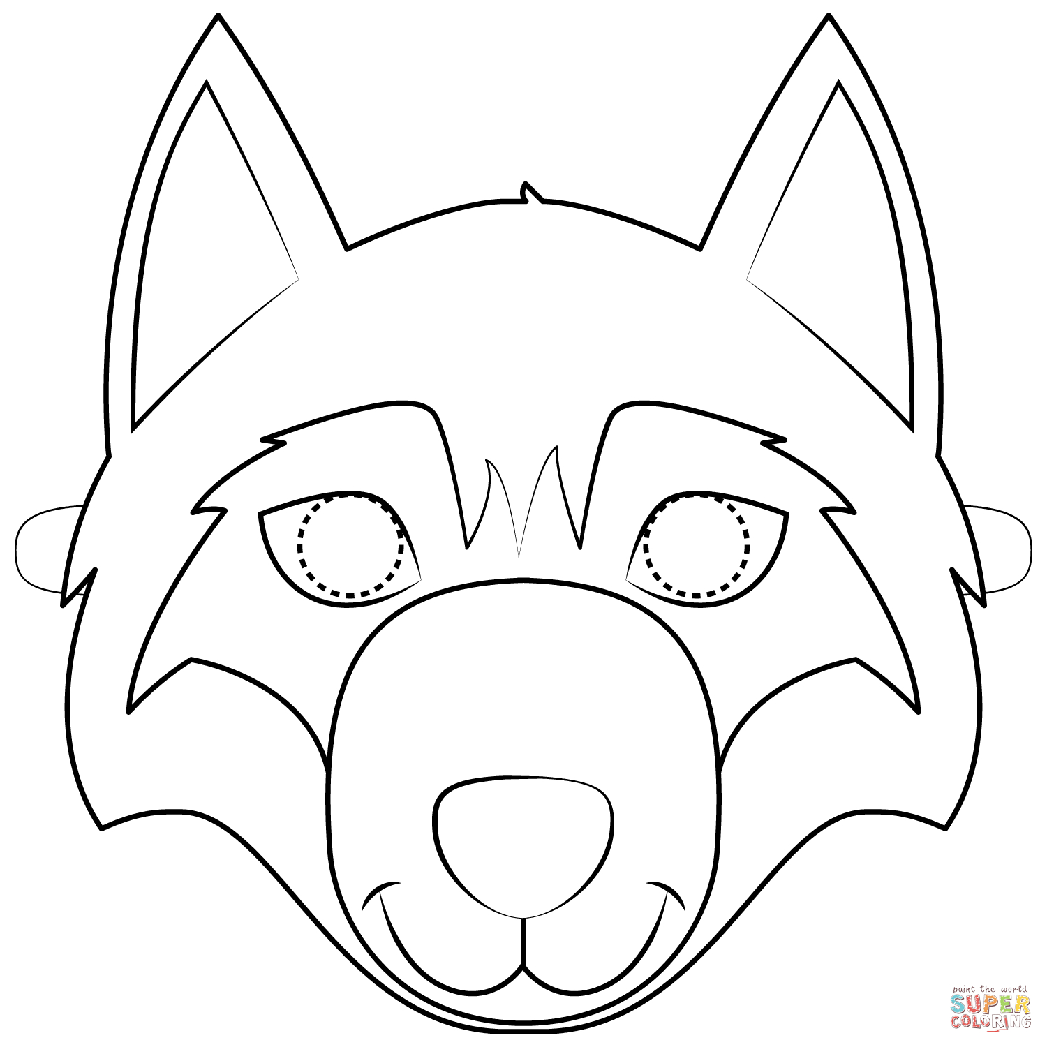 Wolf Mask Coloring Page | Free Printable Coloring Pages - Free Printable Wolf Face Mask