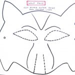 Wolf Mask Template For Preschoolers | Making The Wolf Mask | Kids   Free Printable Wolf Face Mask
