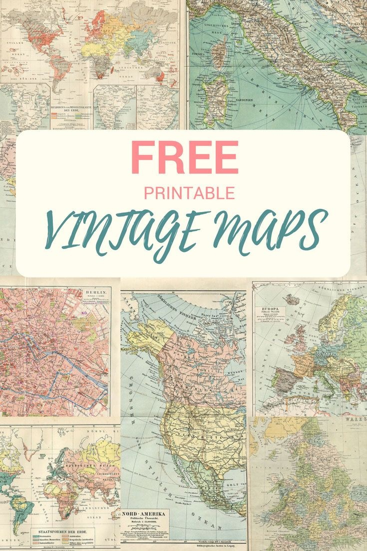 Wonderful Free Printable Vintage Maps To Download   Genealogy - Free Printable Maps