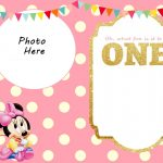 Wonderful Of Mickey Mouse 1St Birthday Invitation Template Free Free   Free Printable Mickey Mouse 1St Birthday Invitations
