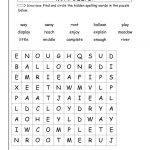 Wonders Second Grade Unit Six Week Four Printouts   2Nd Grade Word Search Free Printable