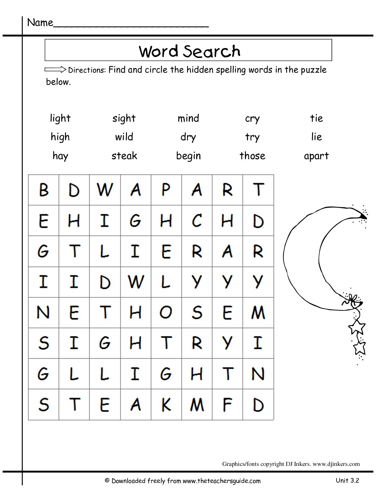 Wonders Second Grade Unit Three Week Two Printouts - 2Nd Grade Word Search Free Printable