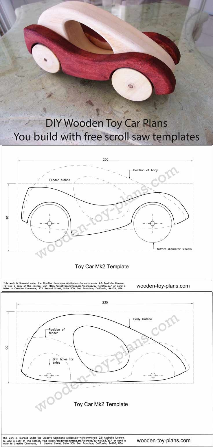 Wooden Car Designs Full Size Template You Can Download And Print - Free Wooden Toy Plans Printable