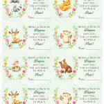 Woodland Animal Baby Shower Diaper Raffle. Free Printable | Birthday   Free Printable Baby Shower Diaper Raffle Tickets
