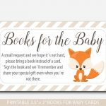 Woodland Bring A Book Instead Of A Card Inserts, Woodland Baby   Bring A Book Instead Of A Card Free Printable