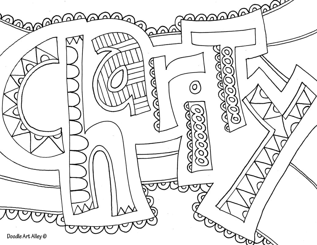 Word Coloring Pages - Doodle Art Alley - Free Printable Coloring Pages On Respect