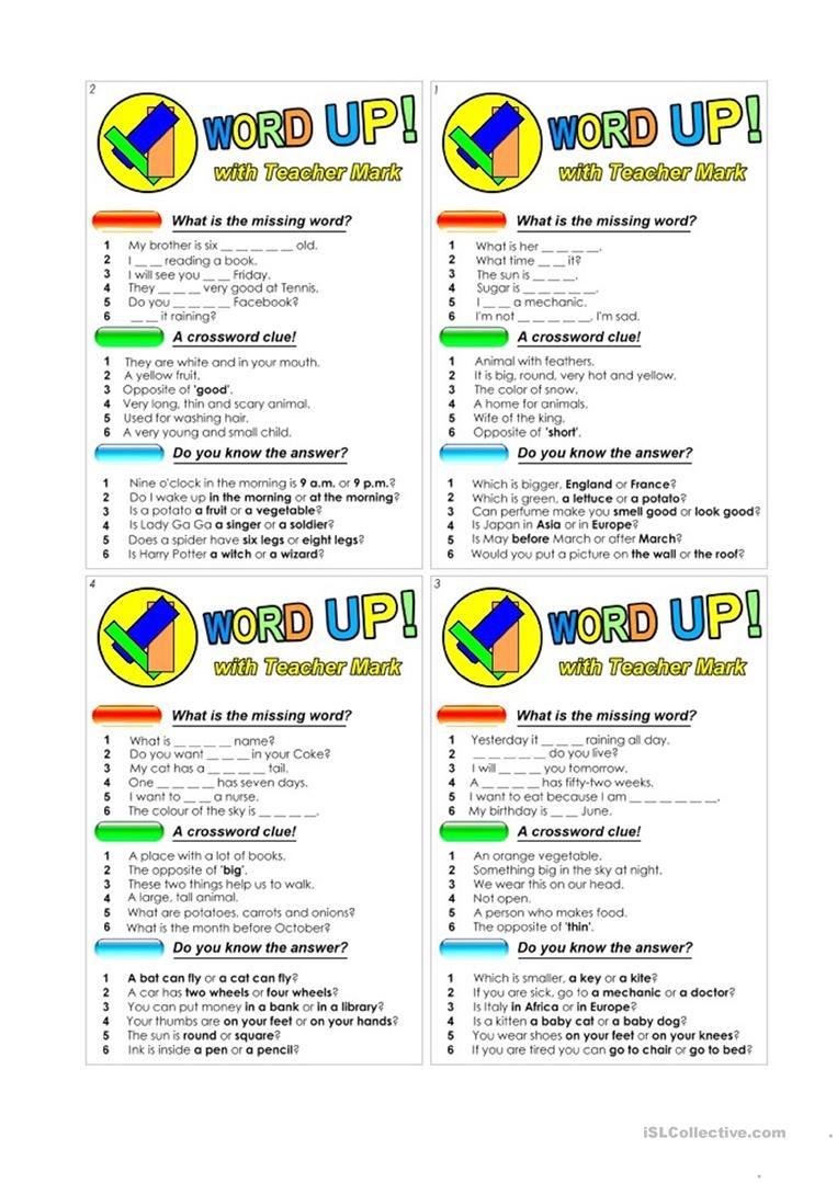 Word Up (For Kids!) Worksheet - Free Esl Printable Worksheets Made - Free Printable Word Winks