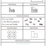 Words Worksheets Sight Words Worksheet For Kindergarten Pdf Sight   Free Printable Sight Word Worksheets