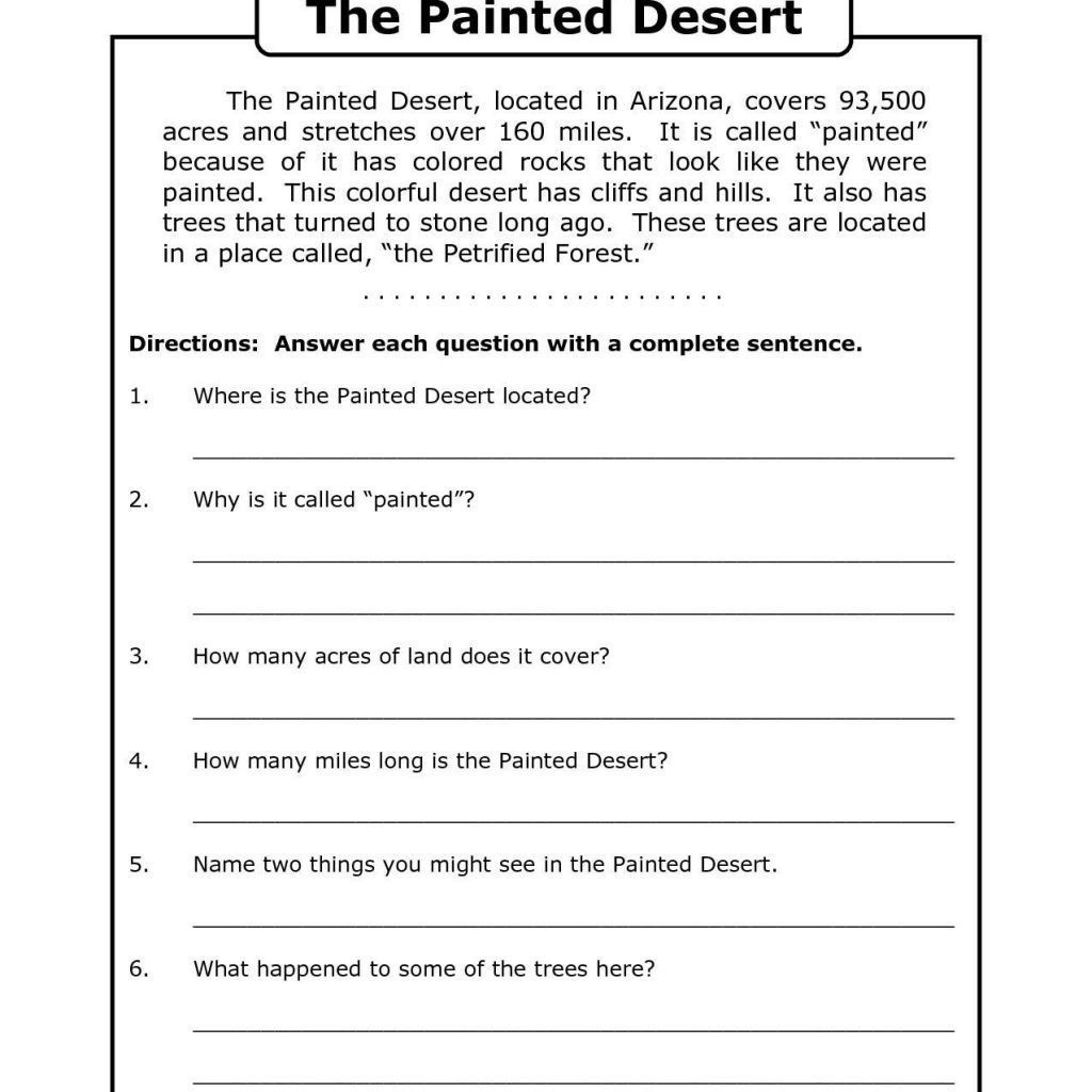Worksheet : Fourth Grade Reading Games 5Th Comprehension Year Math - Free Printable Worksheets Reading Comprehension 5Th Grade