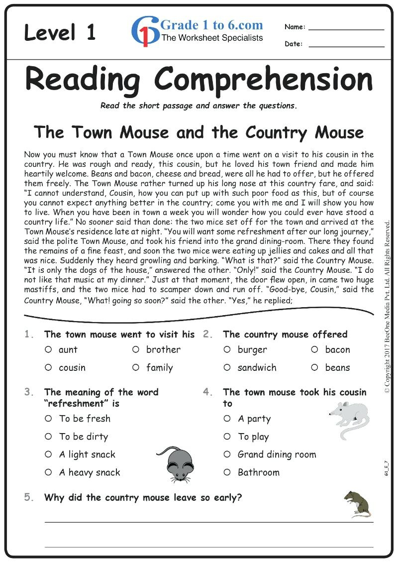 Worksheet : Free Printable Short Stories With Comprehension - Free Printable English Comprehension Worksheets For Grade 4