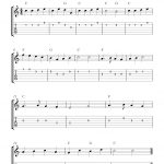 Yankee Doodle,easy Free Guitar Tab Sheet Music Score   Free Printable Guitar Tabs For Beginners