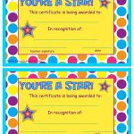 You're A Star End Of The Year Certificates | End Of The School Year   Free Printable Award Certificates For Elementary Students