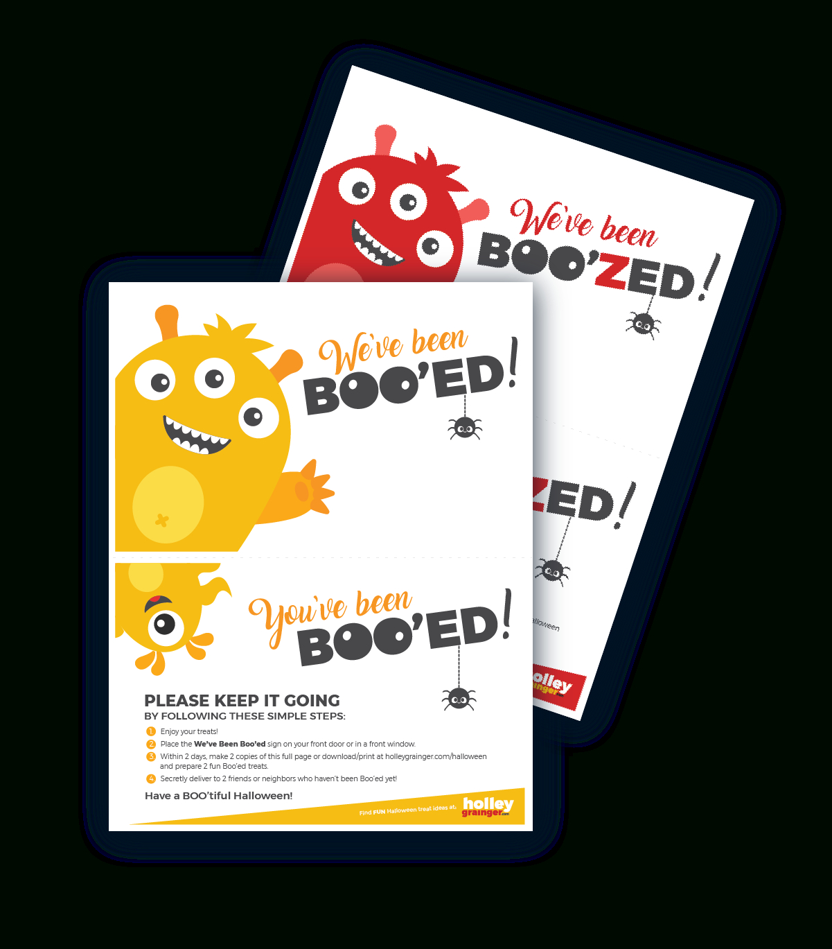 You've Been Boo'zed! Free Halloween Printable   Holley Grainger - You Ve Been Boozed Free Printable