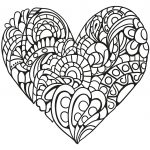 Zentangle Heart Coloring Page | Free Printable Coloring Pages   Free Printable Heart Coloring Pages